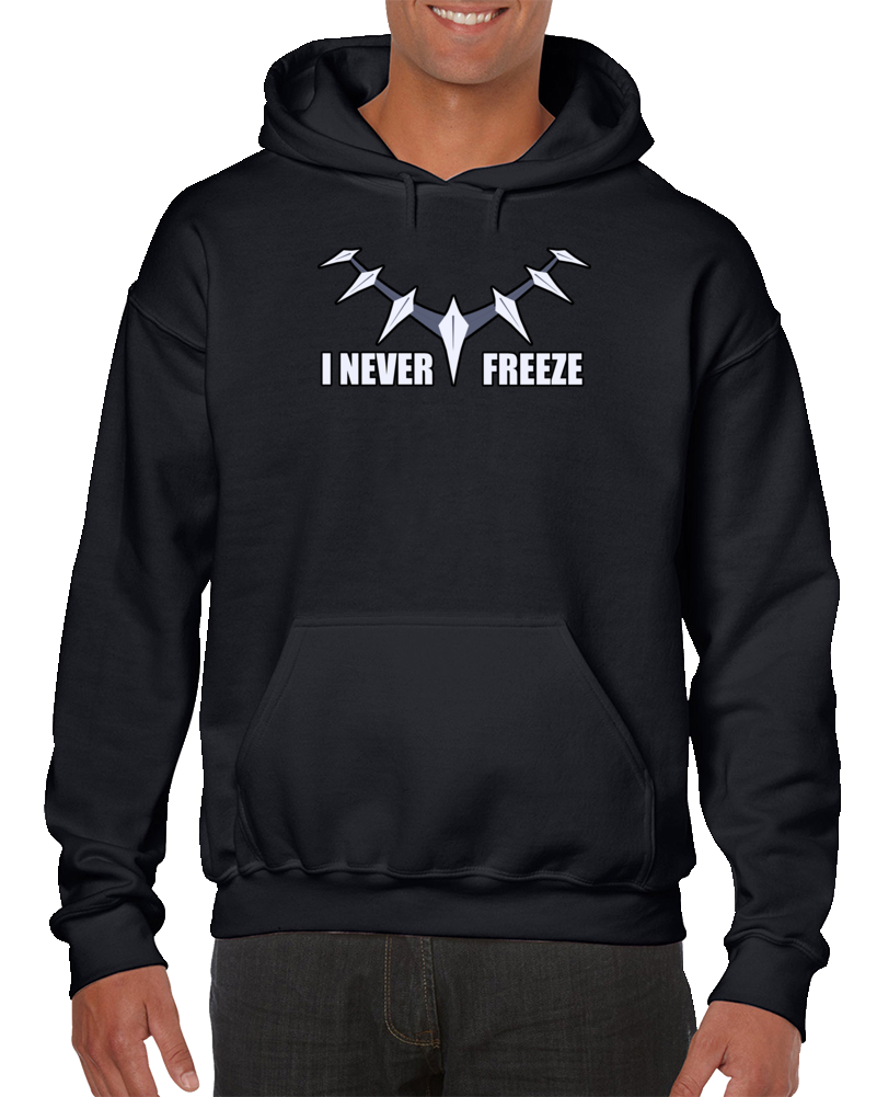 Em4shirts Black Panther I Never Freeze Sweatshirt Pullover Hoodie