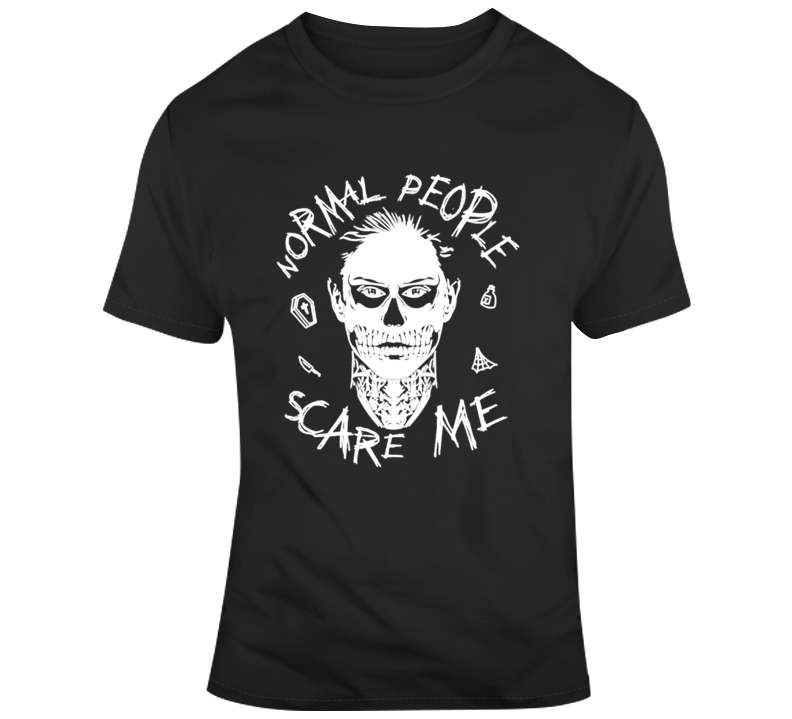 Evan Peters Normal People Scare Me T Shirt