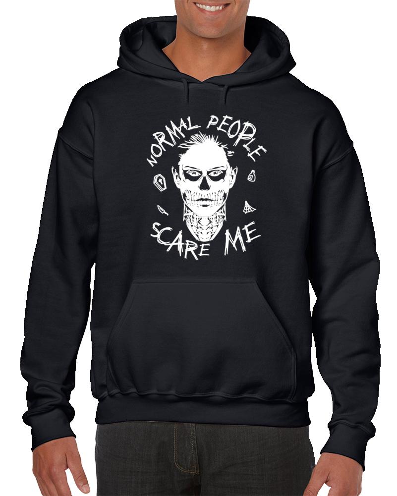 Evan Peters Normal People Scare Me Sweatshirt Pullover Hoodie