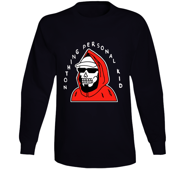 Pewdiepie Nothing Personal Kid Skeleton Skull Long Sleeve Shirt