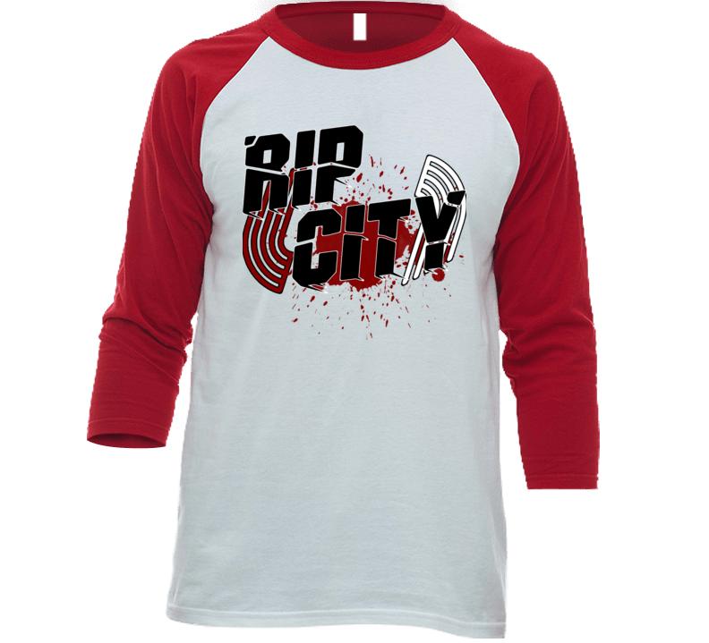 Rip City Portland Trail Classic Bound Tip Off Dunk Hot Blazer 2019 Reglan T Shirt