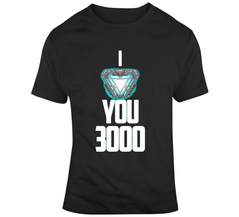 I Love You 3000 Ironman Avengers Endgame T Shirt