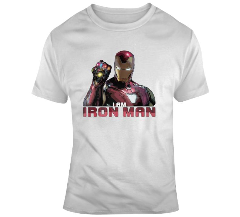 I Am Iron Man Avengers Endgame Infinity Gauntlet T Shirt