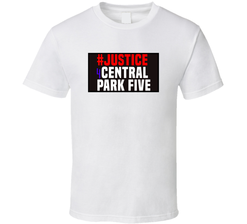 Justice For Central Park Five 5 T Shirt