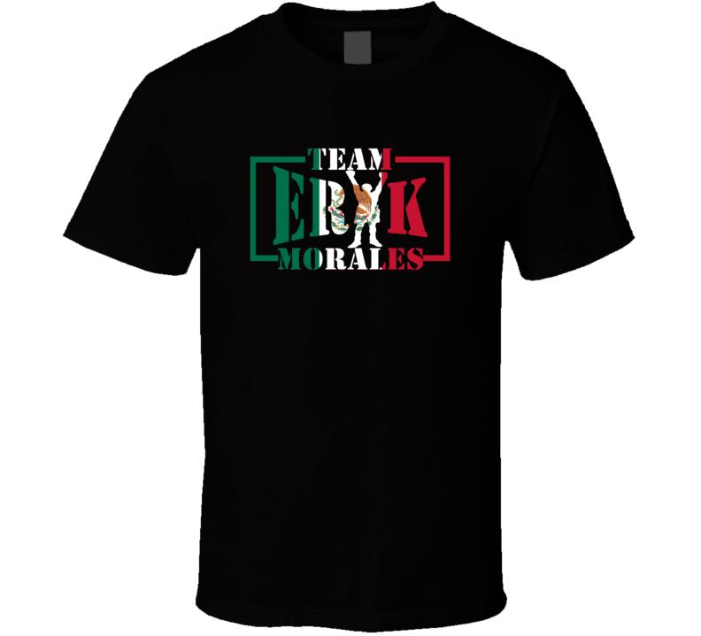 Team Erik Morales Mexican Flag Boxing T Shirt