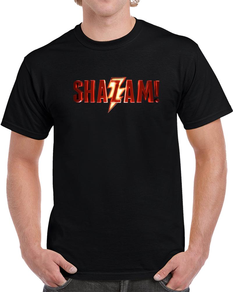 Shazam Movie Superhero Logo T Shirt