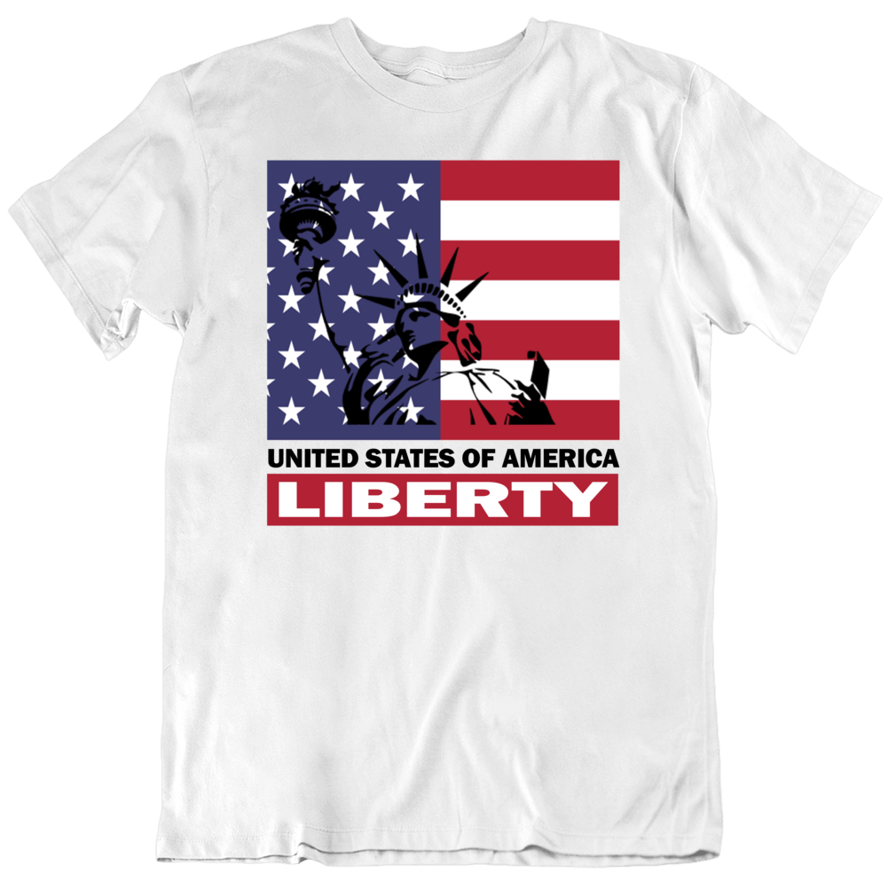 Usa Independence Day 2019 Statue Of Liberty American Flag T Shirt