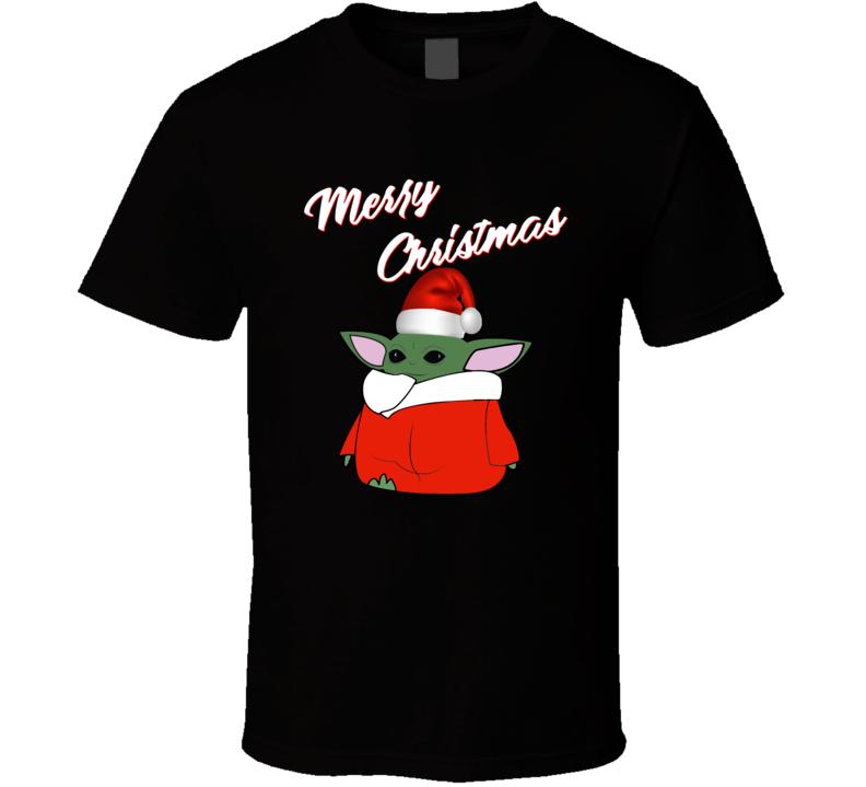 Baby Yoda The Mandalorian The Child Merry Christmas T Shirt