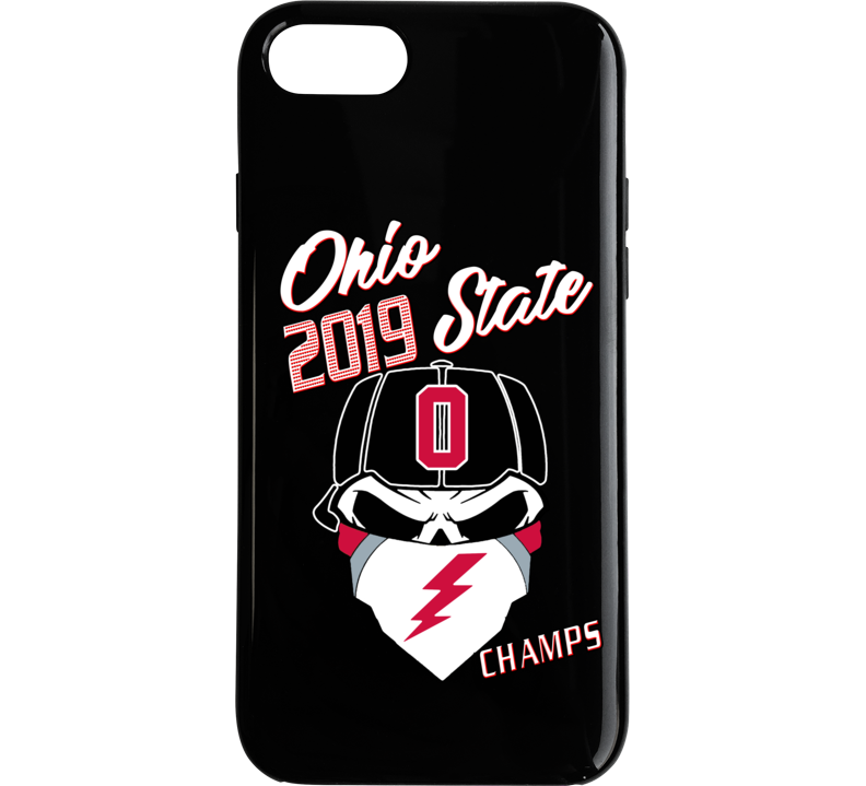 Ohio State 2019 Football Dead Skull Bandana Phone Case