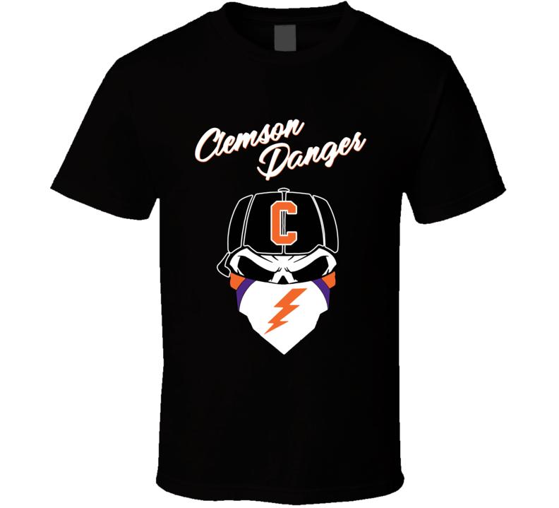 Em4shirts Clemson Danger Dead Skull Bandana Rag 2019 Football T Shirt
