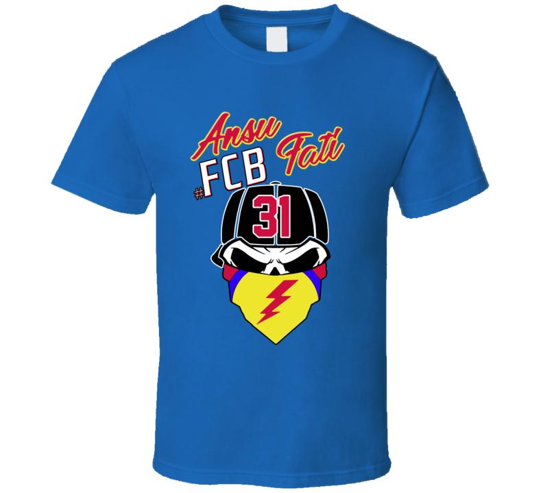 Ansu Fati Fcb Dead Skull Bandana 2019 Football T Shirt