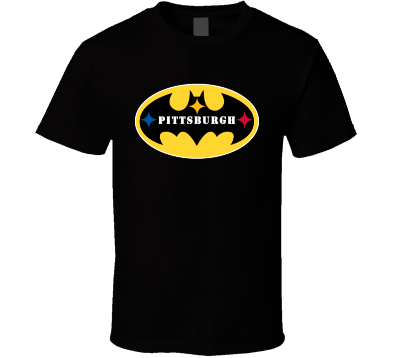 Em4shirts Pittsburgh Batman Logo Football T Shirt