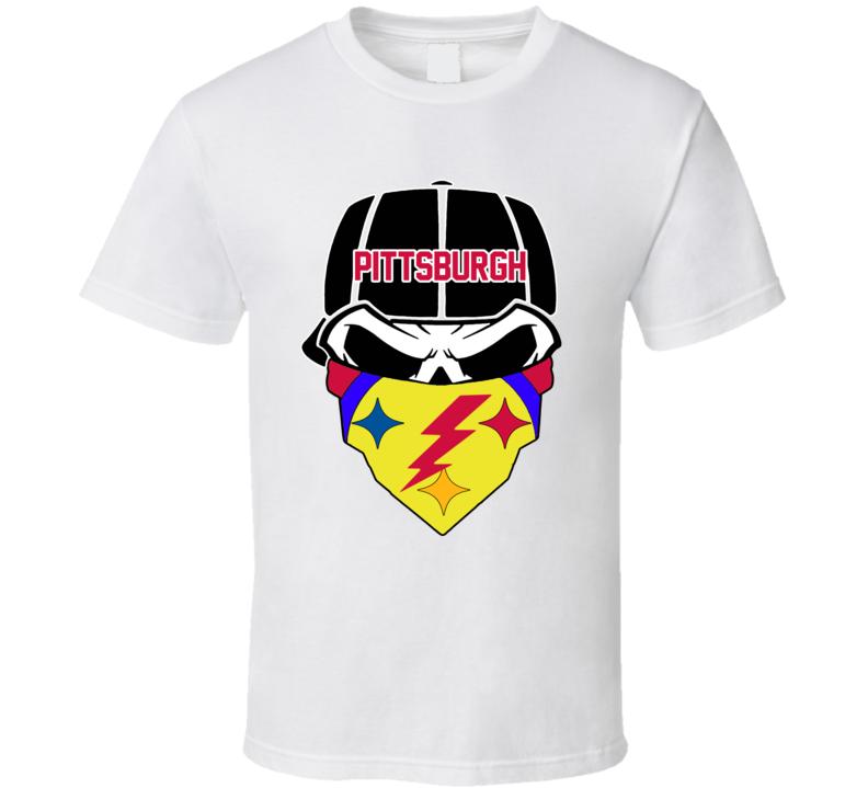 Em4shirts Pittsburgh Skull Bandana Scarf Rag 2020 Football T Shirt