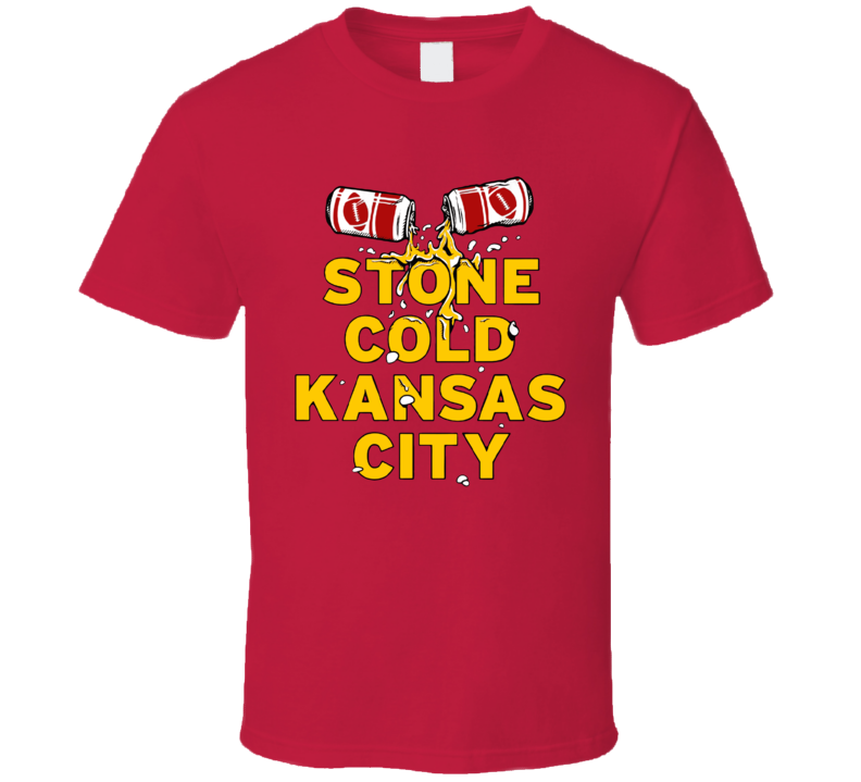 Stone Cold Kansas City Celebration Football T Shirt