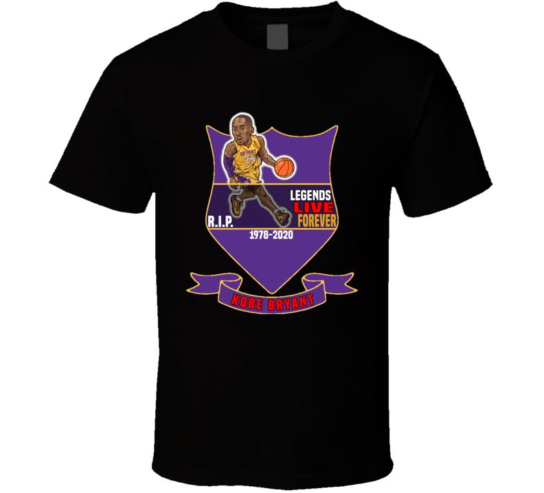 Em4shirts Legends Live Forever Kobe Bryant Rip T Shirt