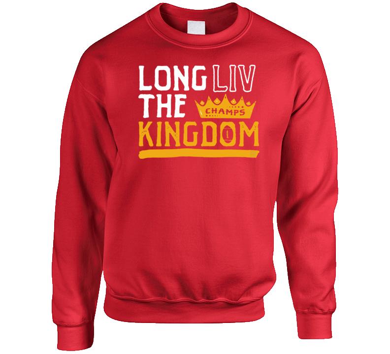 Long Live The Kingdom Kansas City Champs Football Crewneck Sweatshirt
