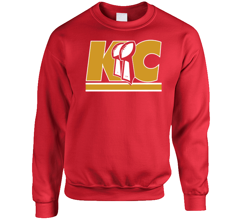 Kansas City Iv Liv Champions Trophies 54 Football Crewneck Sweatshirt