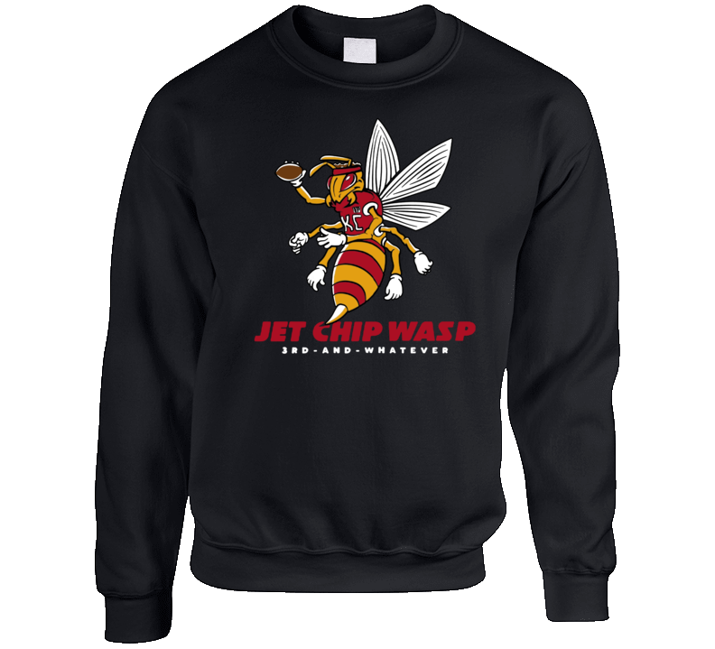 Jet Chip Wasp Patrick Mahomes Kansas City 3rd And Whatever Football Crewneck Sweatshirt