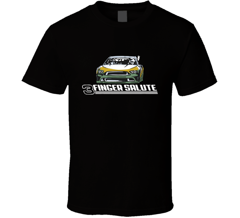 Three Finger Salute Kevin Harvick Racing  T Shirt