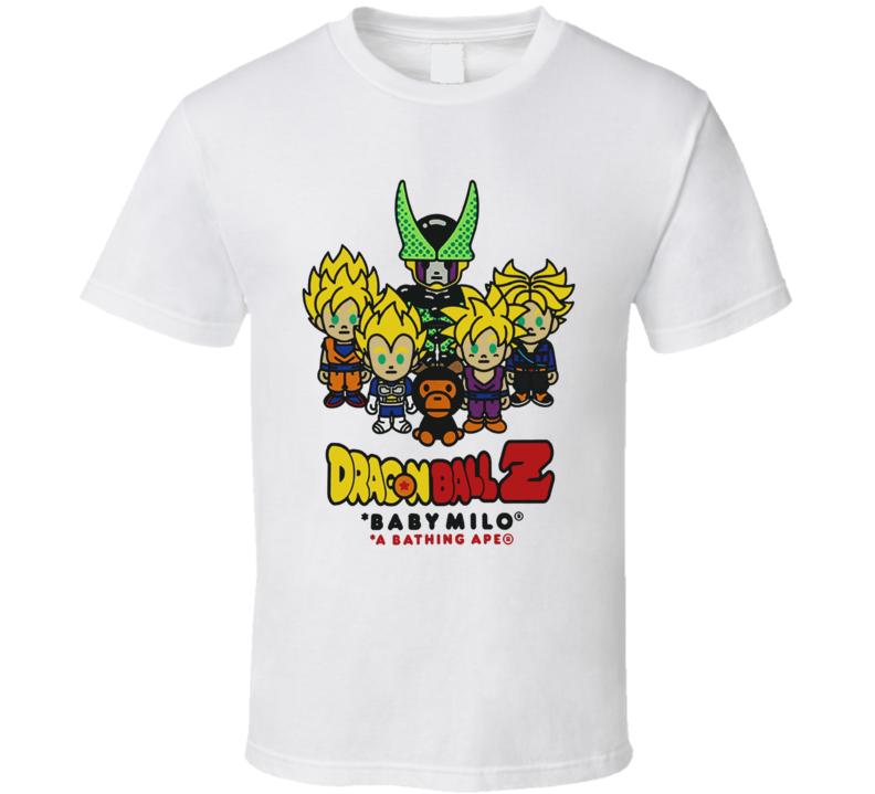 Baby Milo A Bathing Ape Dragonball Z Super Saiyan T Shirt
