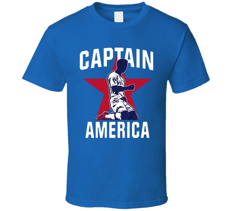 Captain America Usa English Goals Soccer T Shirt