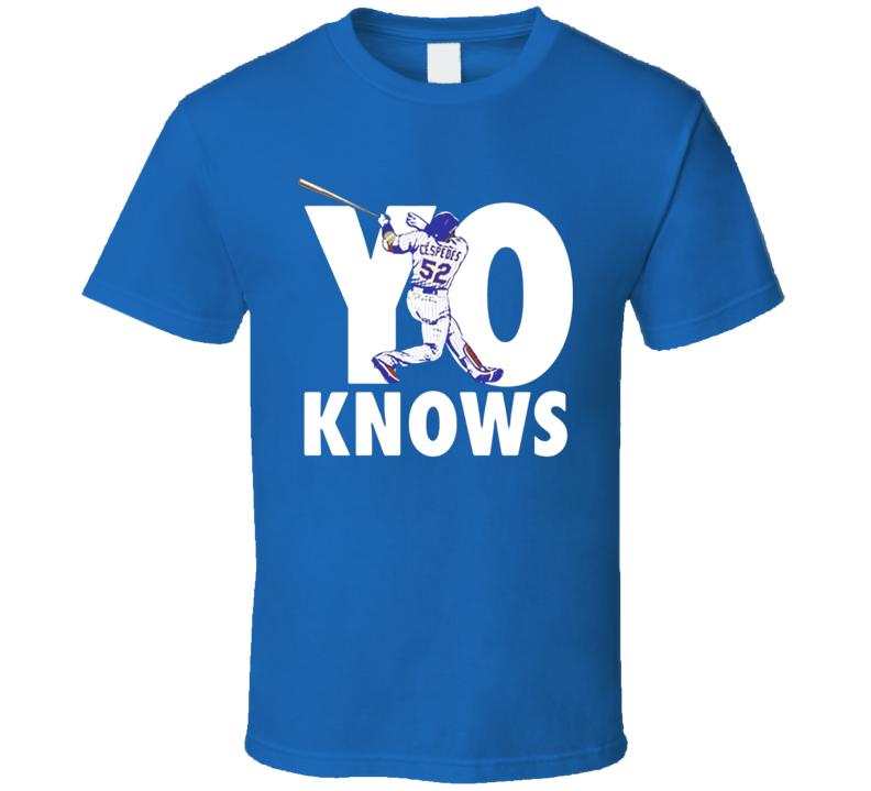 Yo Knows Yoenis Cespedes New York Baseball T Shirt