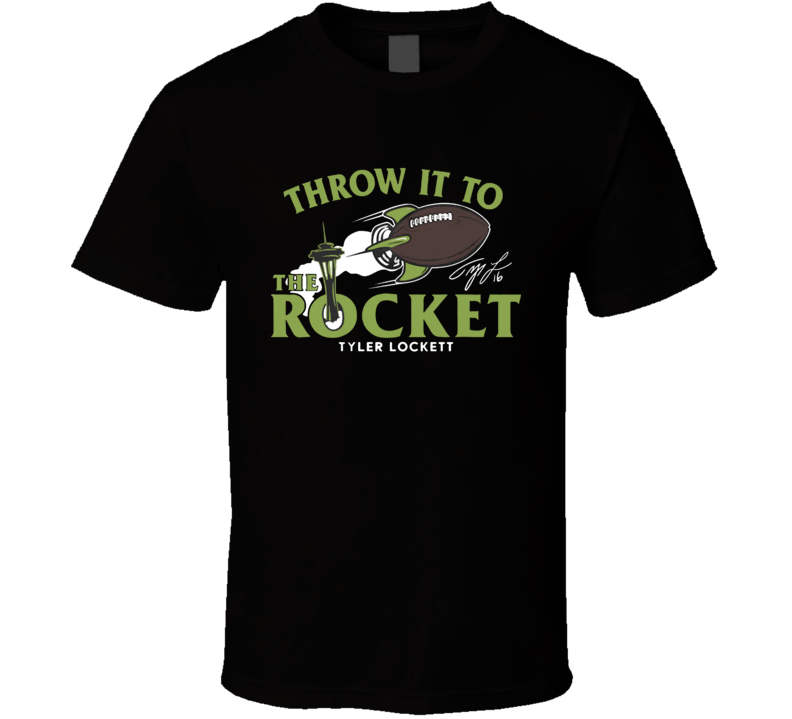 Tyler Lockett Throw It To The Rocket Baseball T Shirt