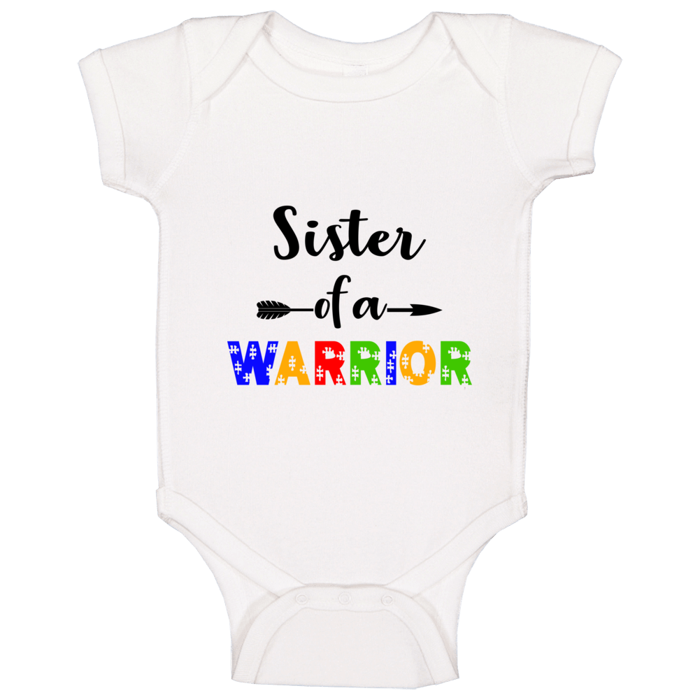 Sister Of A Warrior Baby One Piece