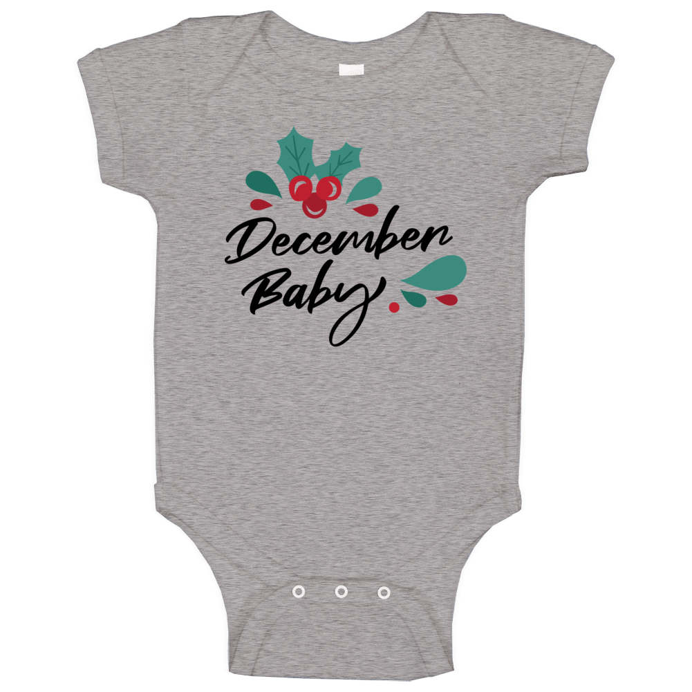 December Baby Baby One Piece