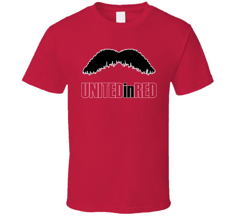 United In Red Ottawa Playoff Paul Maclean Walrus Mustache T Shirt