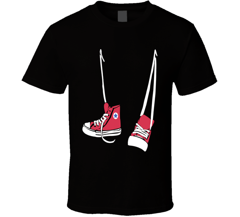 Red Converse Shoes T Shirt