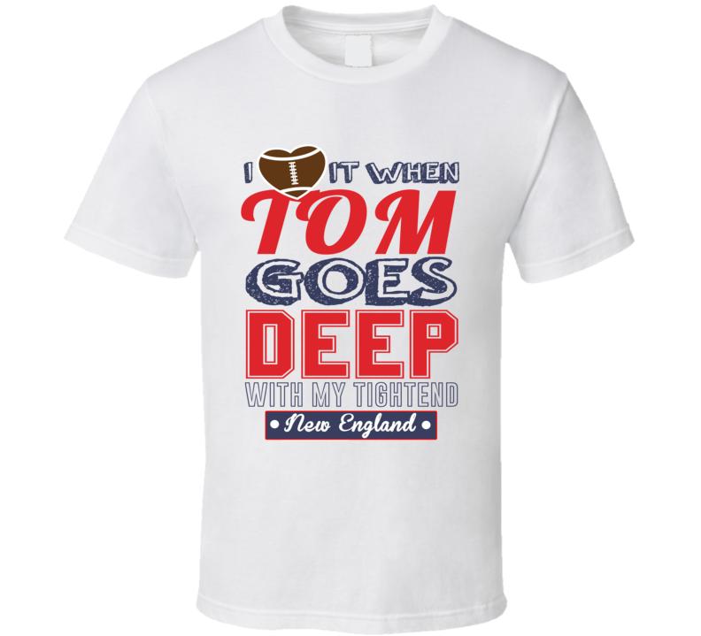 New England Tom Brady Tightend Love Football T Shirt
