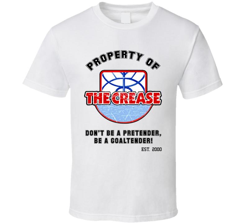 The Crease Goaltending Academy Hockey Goalie T Shirt