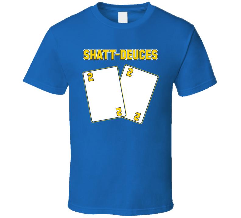 Kevin Shattenkirk St Louis Blues Hockey Player Shatt Deuces T Shirt