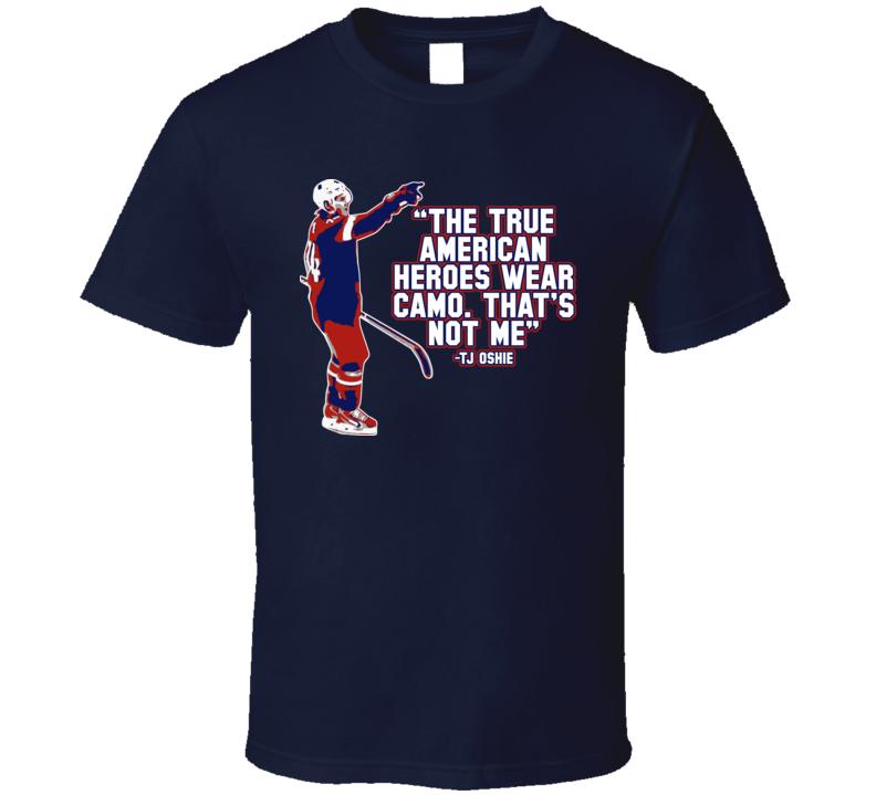 TJ Oshie Hero USA Hockey Player T Shirt