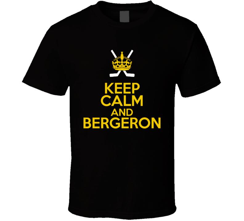 Patrice Bergeron Boston Hockey Player Keep Calm T Shirt