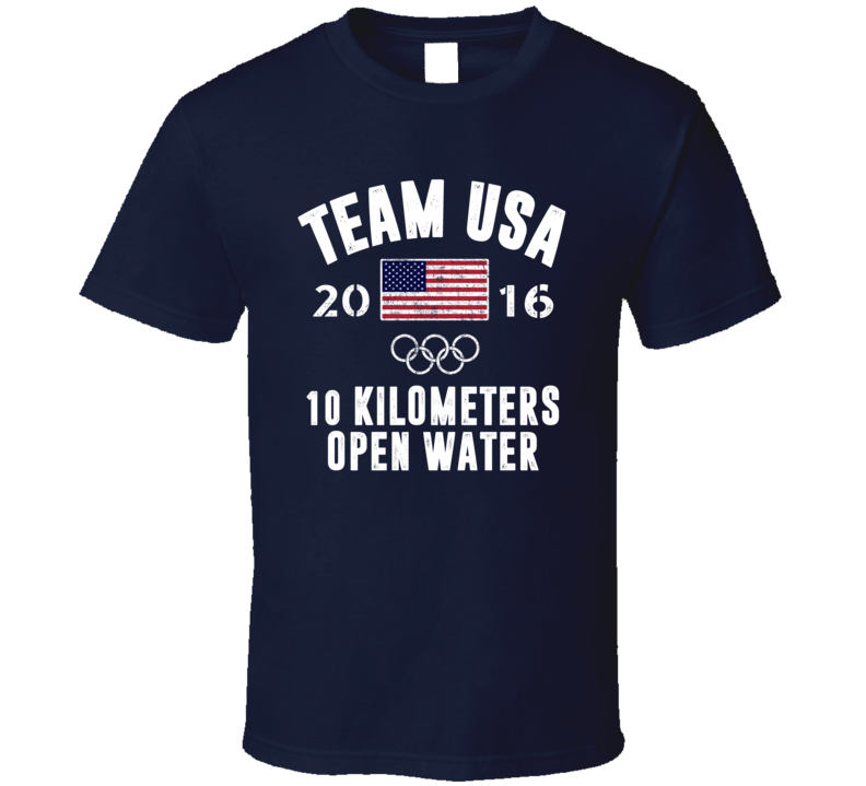 United States USA 10 Kilometers Open Water Rio 2016 Olympic Team Support T Shirt