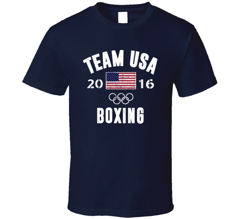 United States USA Boxing Rio 2016 Olympic Team Support T Shirt