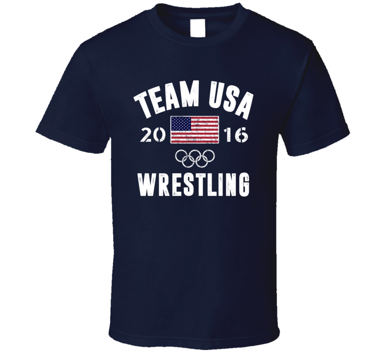 United States USA Wrestling Rio 2016 Olympic Team Support T Shirt