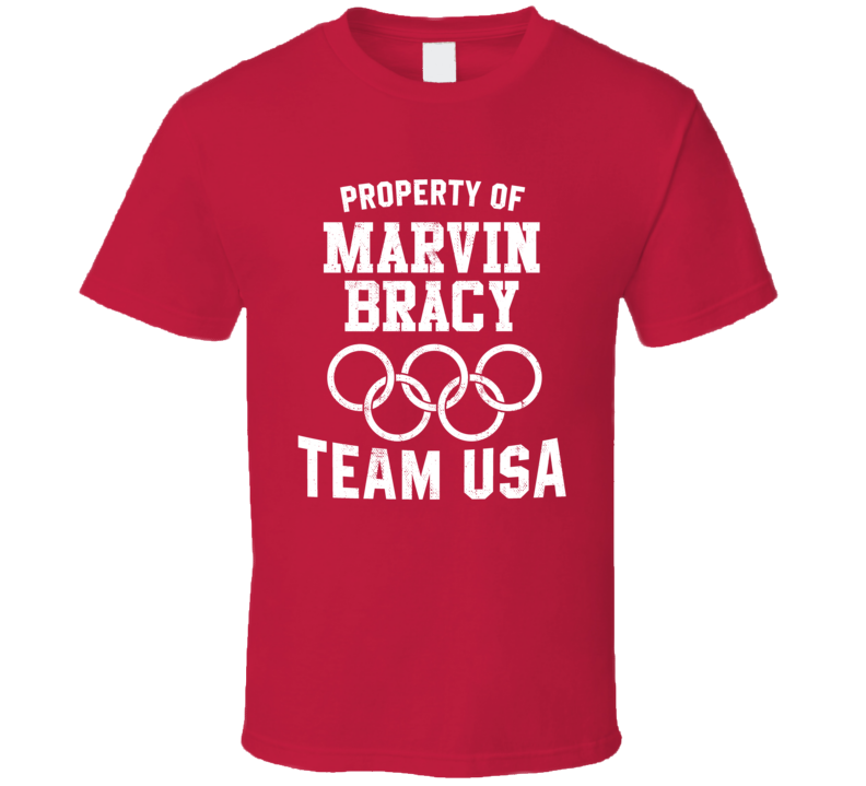 Property Of Marvin Bracy USA Track 4 X 100 M Relay Olympics T Shirt