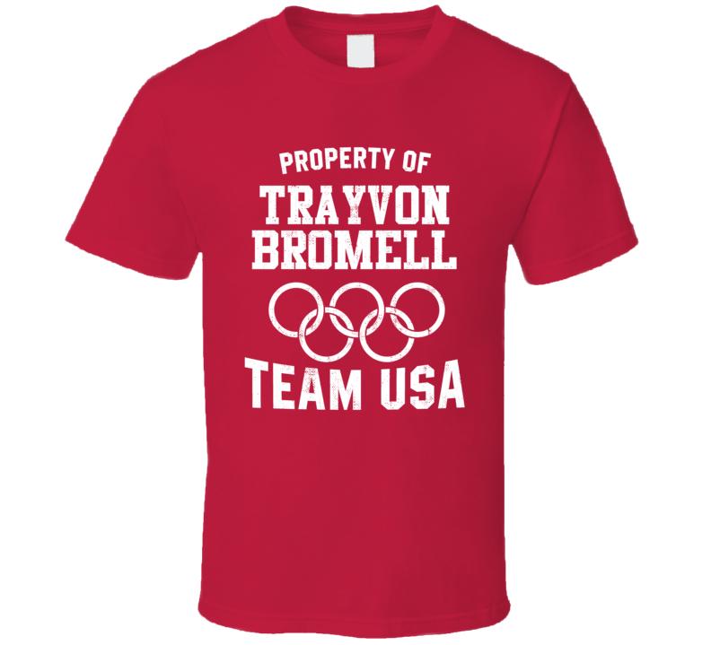 Property Of Trayvon Bromell USA Track 4 X 100 M Relay Olympics T Shirt