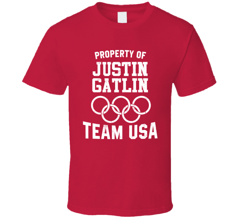 Property Of Justin Gatlin USA Track 4 X 100 M Relay Olympics T Shirt