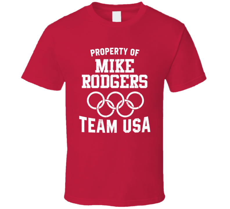 Property Of Mike Rodgers USA Track 4 X 100 M Relay Olympics T Shirt
