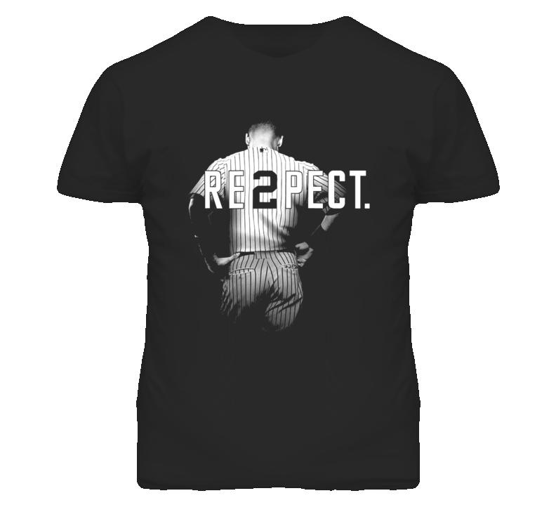Respect Derek Jeter Re2pect 2 On Back New York Uniform MJ Baseball T Shirt
