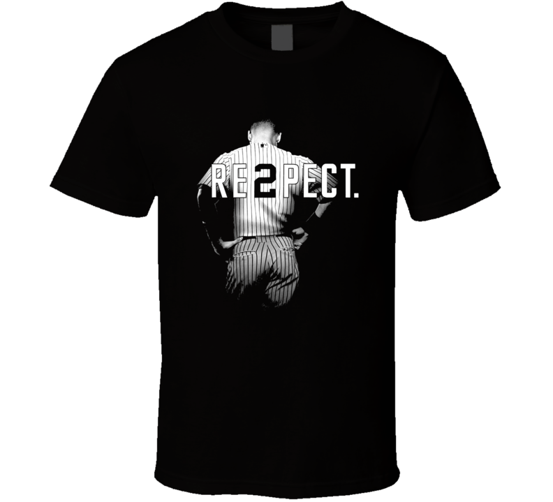 Respect Derek Jeter Re2pect 2 New York Uniform MJ Baseball T Shirt