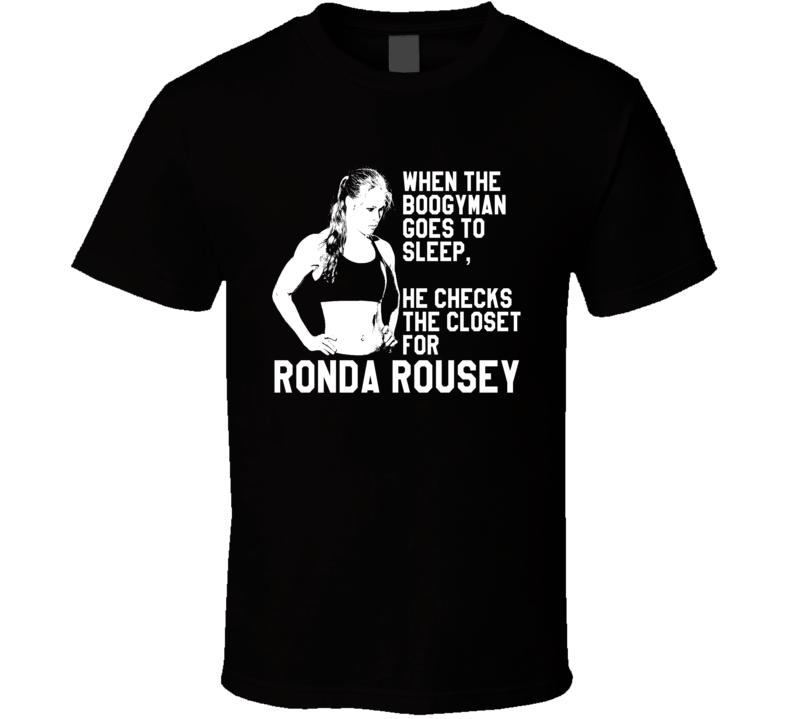 Ronda Rousey UFC Bogeyman Tshirt
