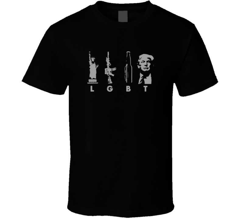 LGBT Liberty Guns Beer Trump T Shirt