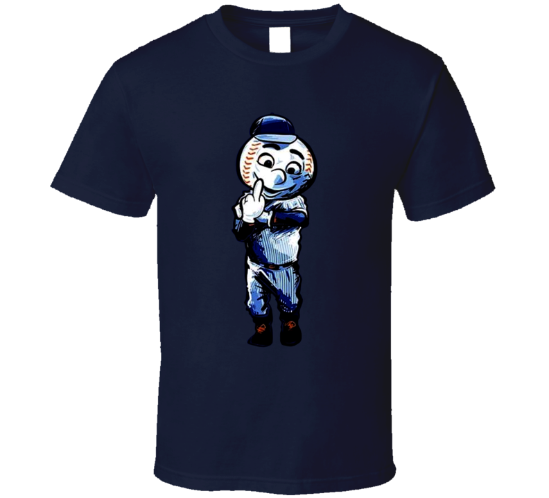 New York Mets Baseball Team Mascot Middle Finger T Shirt