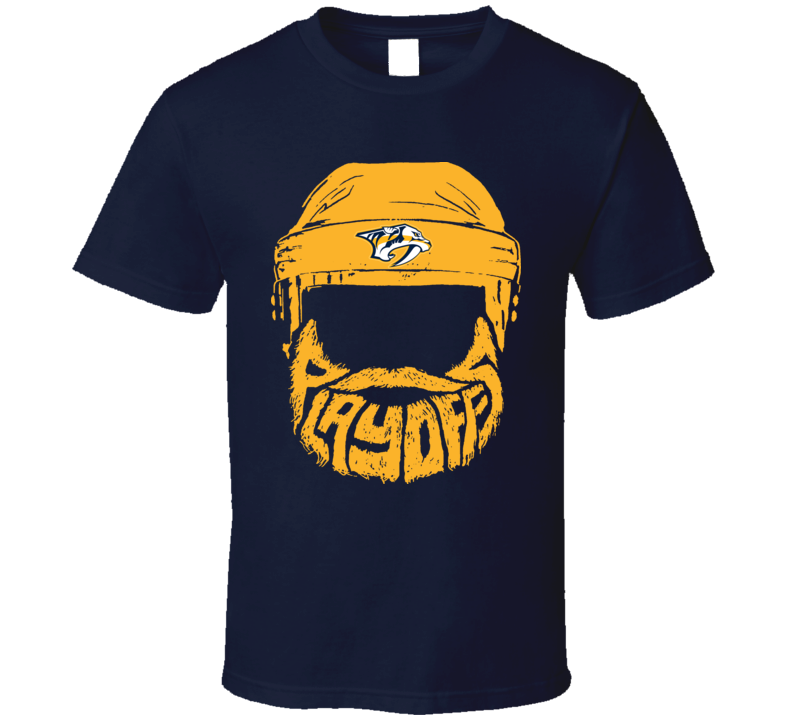 Bearded Playoff Nashville Predators Fan Hockey Gift T Shirt