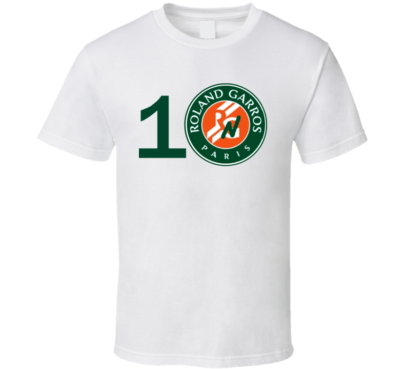 Rafa Nadal la decima French Open Champion 10 Roland Garros White T Shirt